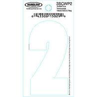 """Hardline 3"""" Vinyl Boat Numbering 3SCWP2"""
