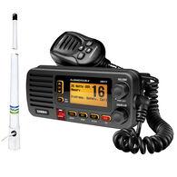 Uniden Oceanus D UM415 VHF Radio Package, Black w/Shakespeare 5206-N Antenna