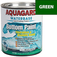 Aquaguard Waterbase Anti-Fouling Bottom Paint, Quart, Green