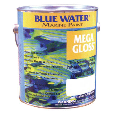 Blue Water Mega Gloss Polyurethane, Quart