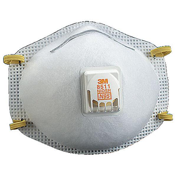 3M Respirators With Nose Clip, 10 Per Box
