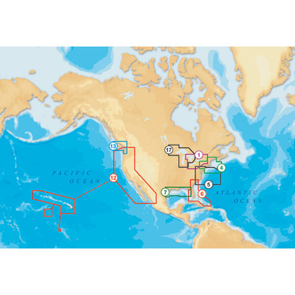 NAVIONICS PLATINUM + CHARTS - CF/906P+ (US SOUTHEAST & BAHAMAS)