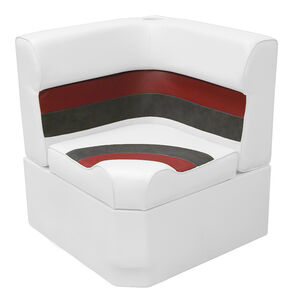 Toonmate Deluxe Radius Corner Section Seat - TOP ONLY - White/Red/Charcoal