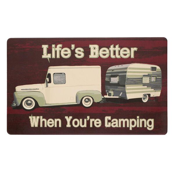 """Anti-Fatigue Kitchen Mats, 18"""" x 30"""", Truck & Trailer—Life is Better When You're Camping"""
