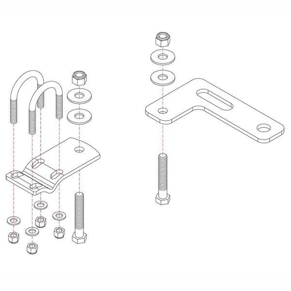 Roadmaster Reflex Steering Stabilizer Mounting Bracket, RBK4