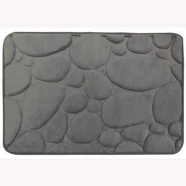"""Memory Foam Bath Mat, Gray Pebble, 17"""" x 24"""""""