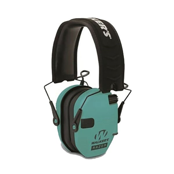 Walker's Razor Slim Electronic Muff, Teal