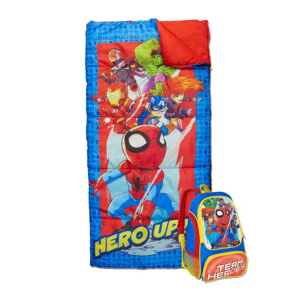 Youth Hero Up Sleeping Bag & Backpack Set