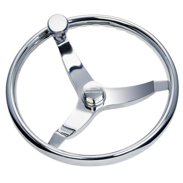 """Schmitt Vision Elite 15.5"""" Steering Wheel With Knob"""