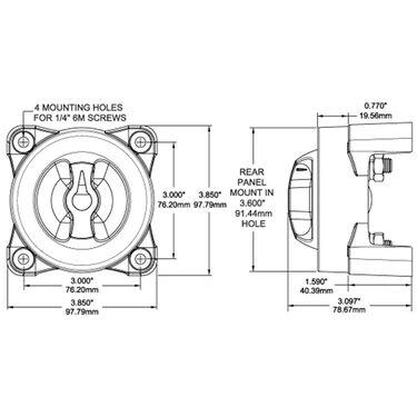 Blue Sea E-Series 3-Position Battery Switch w/Alternator Field Disconnect