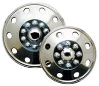 "Set of 4 Namsco Stainless Steel Wheel Covers 16.5"" All Styles"