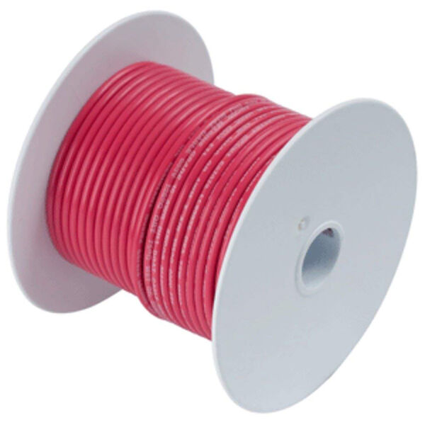 Ancor Red Tinned Copper Wire (18 AWG), 500'