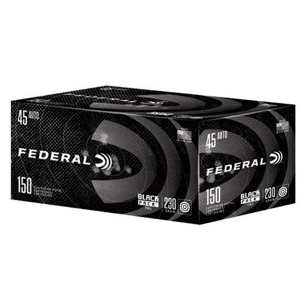 Federal Black Pack Ammo, .45 ACP