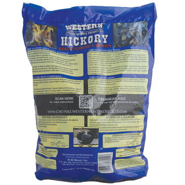 Western Hickory BBQ Wood Cooking Chunks