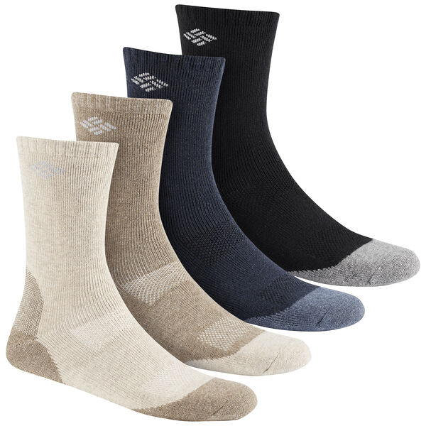 Columbia Men's Wool-Blend Crew Socks, 4-Pack