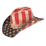 Peter Grimm American Flag Cowboy Hat
