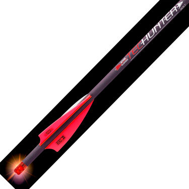 """TecHunter Lighted Carbon Fiber Bolts with 3"""" Bohning X Vanes, 3-Pack"""