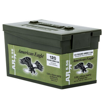 American Eagle AR-5.56 M855 Rifle Ammo Mini Can, 62-gr., FMJ