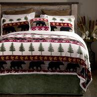 Tall Pine 5-piece Sherpa Queen Bedding Set