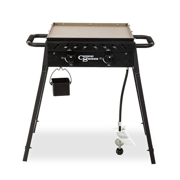 Country Smoker Plains 2-Burner Portable Gas Griddle