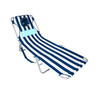 Ostrich Ladies Comfort Lounger, White and Navy