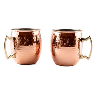 Cambridge 20-oz. Micro-Hammered Copper Moscow Mule Mugs, 2-pack