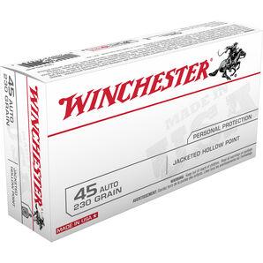 Winchester USA Handgun Ammo, .45 ACP, 230-gr., JHP