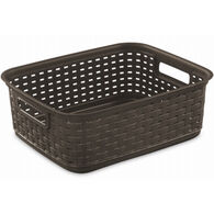 Sterilite Short Weave Basket, Espresso