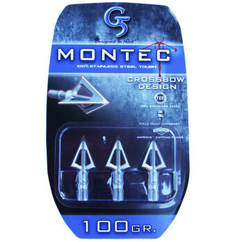 G5 Outdoors Montec Broadhead, 3-Pack, 100 Gr.