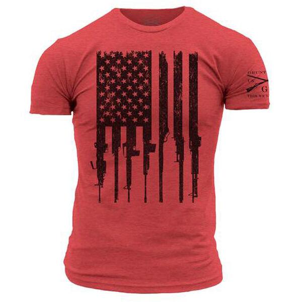 Grunt Style Men's R.E.D. Rifle Flag Short-Sleeve Tee