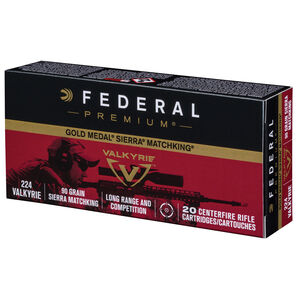 Federal Gold Medal Berger Rifle Ammo, .224 Valkyrie, 90-gr., Sierra MatchKing