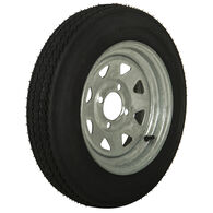 Tredit H188 4.80 x 12 Bias Trailer Tire, 4-Lug Spoke Galvanized Rim