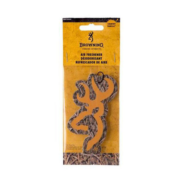 Browning Buckmark Logo Air Fresheners – Country Vanilla Scent, 3-Pack