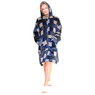 Sherpy Zip-Up Sherpa Hoodie - Blue Plaid