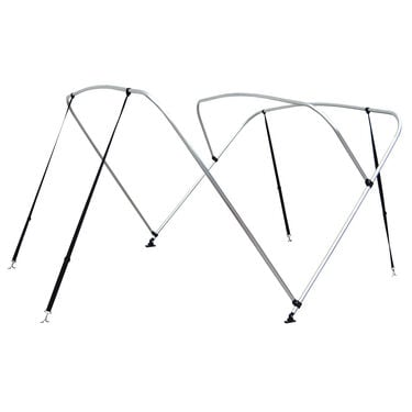 "Shademate Bimini Top 3-Bow Aluminum Frame Only, 6'L x 54""H, 73""-78"" Wide"