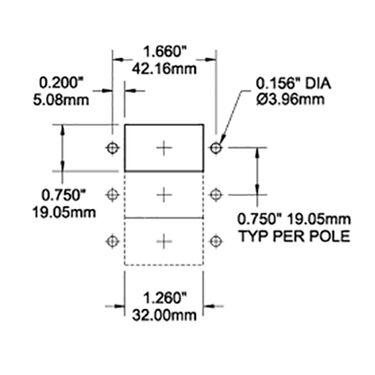 Blue Sea AC/DC Circuit Breaker A-Series Flat Rocker Switch, Single Pole, 20A