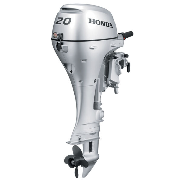 "Honda BF20 Portable Outboard Motor, Electric Start, 20 HP, 15"" Shaft, Power Tilt"