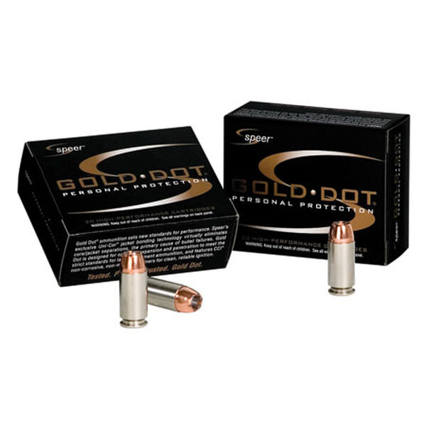 Speer Gold Dot Ammunition, 9mm Luger, 115-gr., GDHP