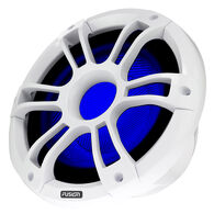 "FUSION SG-SL101SPC 10"" 450W Sports Chrome Marine Subwoofer w/LEDs, White"
