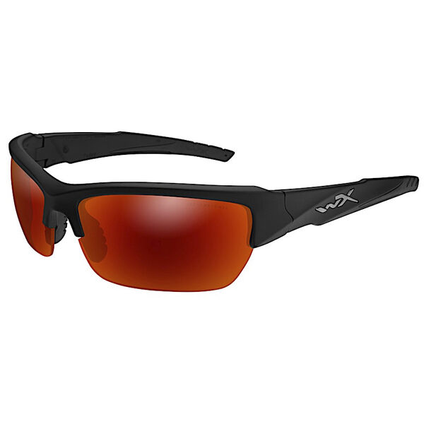 Wiley X WX Valor Polarized Crimson Mirror/Black Two-Tone Sunglasses