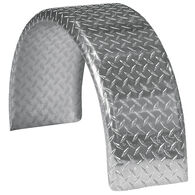 "Smith Round Trailer Aluminum Tread Plate Fender for 13"" Tire"