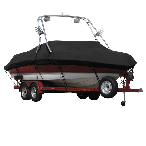 Exact Fit Sharkskin Boat Cover For Reinell/Beachcraft 205 Br W/Proflight Tower