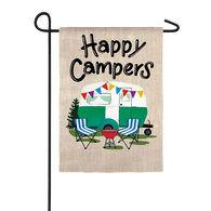 Happy Campers Garden Flag