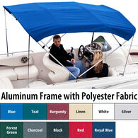 """Shademate Polyester 4-Bow Bimini Top, 8'L x 54""""H, 61""""-66"""" Wide"""