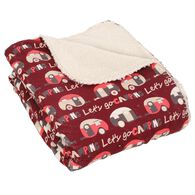 "Let's Go Camping Throws, 50"" x 60"", Berry"