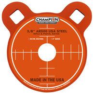 "Champion Targets Center Mass 3/8"" Gong 4"" AR500 Steel Target"