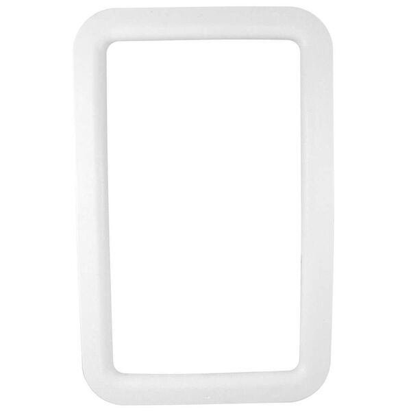 RV Entrance Door Window Frames - Exterior White