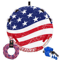 Sportsstuff Stars And Stripes 1-2-Person Tube with Tow Rope & Pump