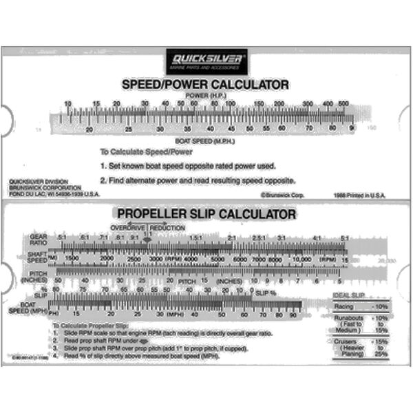 Quicksilver Prop Slip Calculator