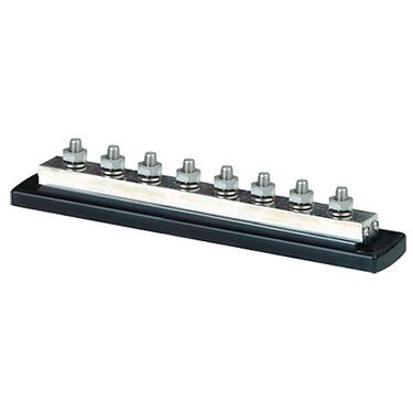 "Blue Sea PowerBar 600-Amp Common Busbar, (8) 3/8""-16 Studs"